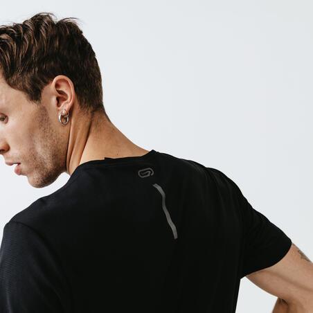 KALENJI DRY MEN'S BREATHABLE RUNNING T-SHIRT - BLACK