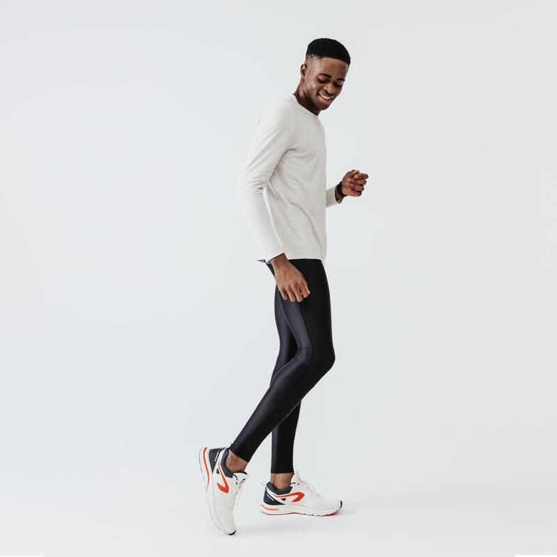 T-shirt manica lunga running uomo DRY+ beige