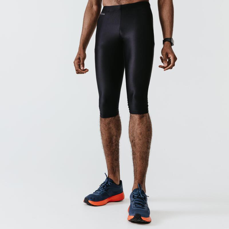 MEN'S RUNNING CROPPED PANTS RUN DRY -BLACK