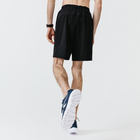 Kalenji Dry+ Men's Running 2-in-1 Shorts With Boxer - Black