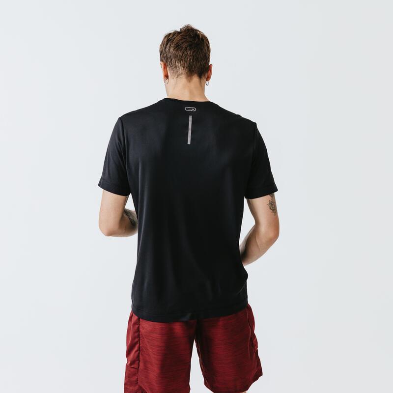 MEN'S BREATHABLE RUNNING T-SHIRT - BLACK