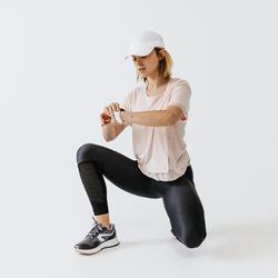 女款跑步緊身褲Run Dry+ Feel - 黑色