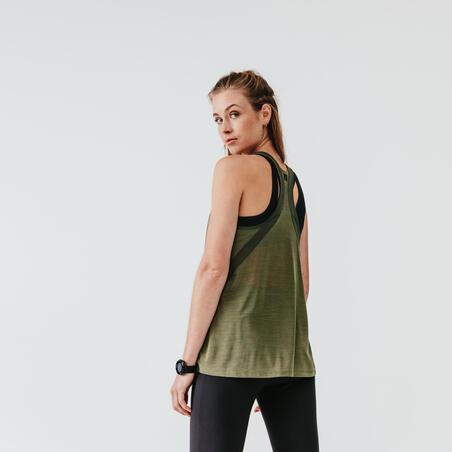 """Moteriški berankoviai bėgimo marškinėliai """"Run Light"""", rusvai žalsva"""