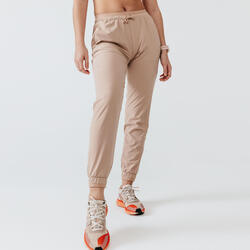 RUN DRY WOMEN'S RUNNING TROUSERS - BEIGE