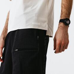 T-SHIRT DE RUNNING MANCHES COURTES RESPIRANT HOMME - DRY+ BREATH BEIGE LIN