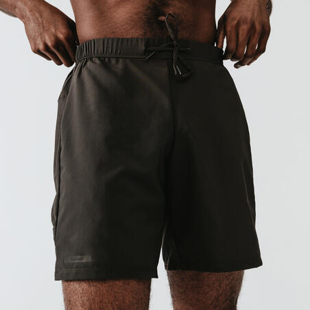 Short Running Kalenji Dry+ Hombre Caqui Oscuro Transpirable