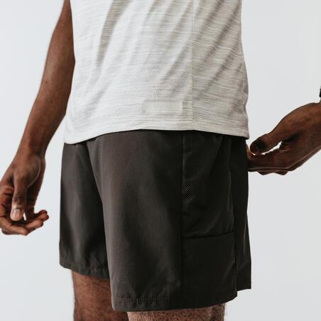 RUN DRY+ MEN'S RUNNING T-SHIRT OFF-WHITE