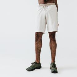 Men's Running Breathable 2-in-1 Shorts Kalenji Dry+ - linen beige
