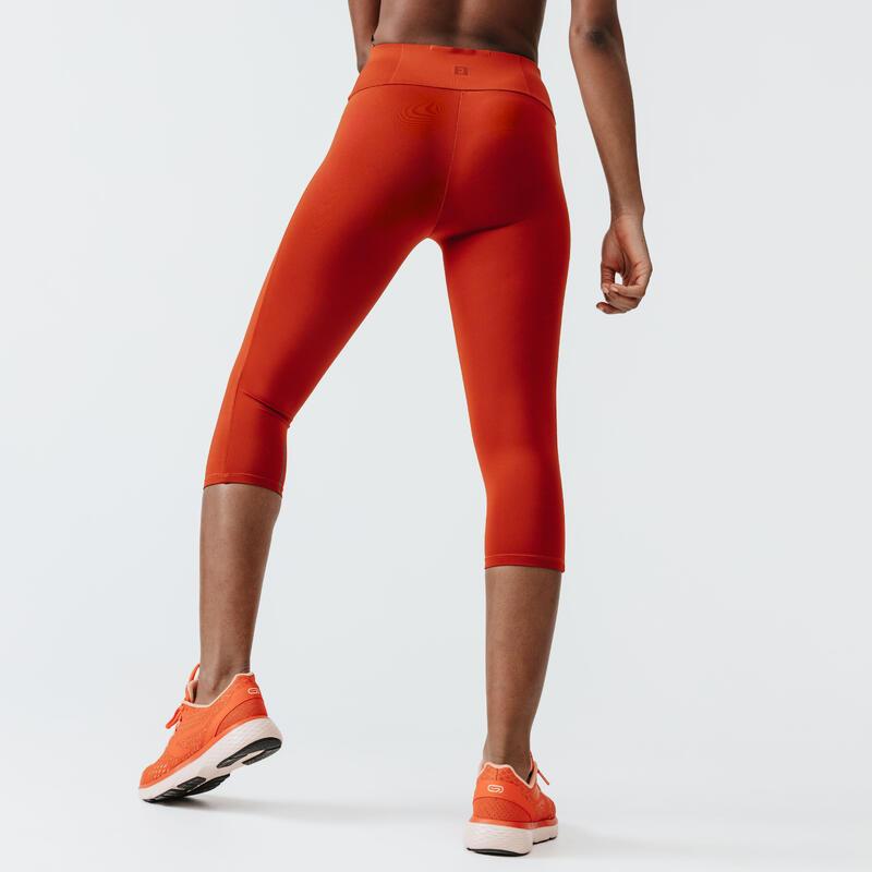 Legging de running court femme - RunSupport orange