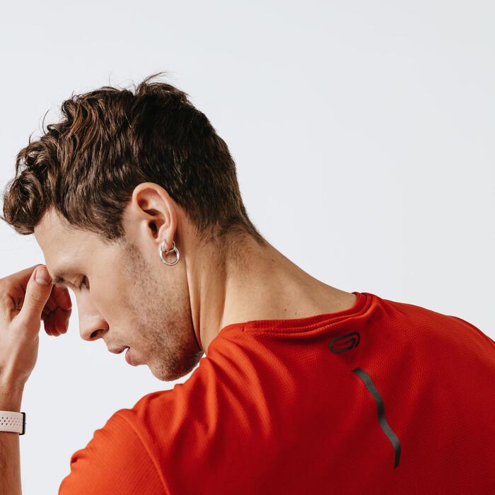 Men's Running Breathable T-Shirt Kalenji Dry - brick red
