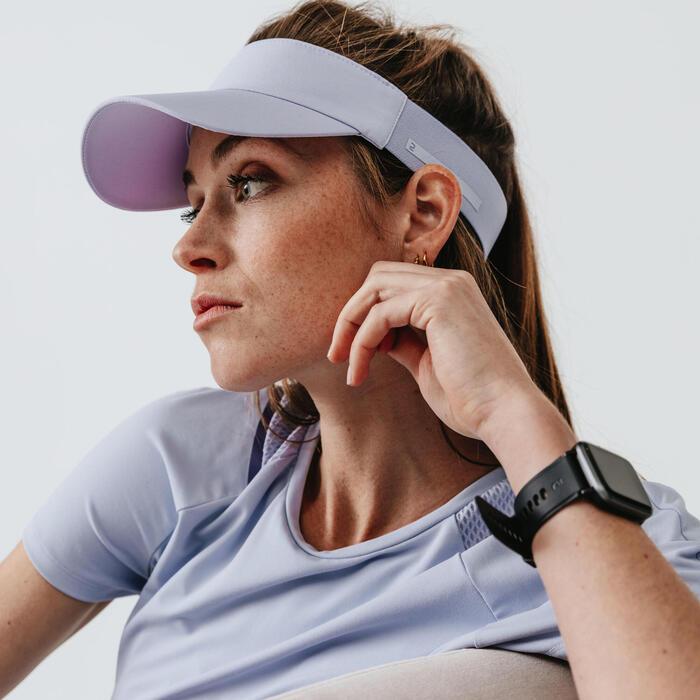 慢跑遮陽帽 - 紫色/粉藍色