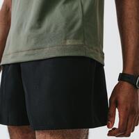 KALENJI DRY MEN'S BREATHABLE RUNNING SHORTS - BLACK