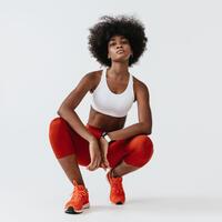 Sujetador-Top Running Kalenji Básico Blanco