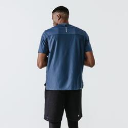 男款透氣跑步T恤Dry+ Breath - 石板藍