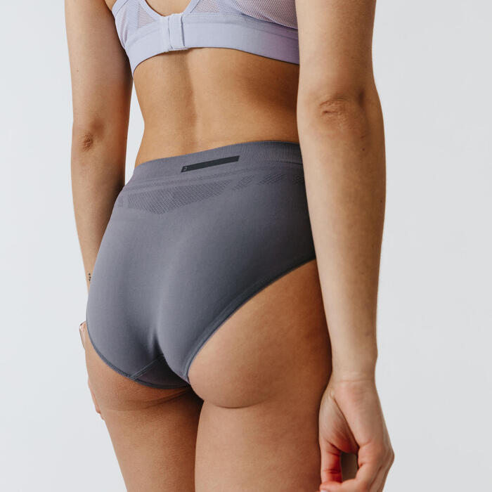 透氣 跑步內褲 - 灰色