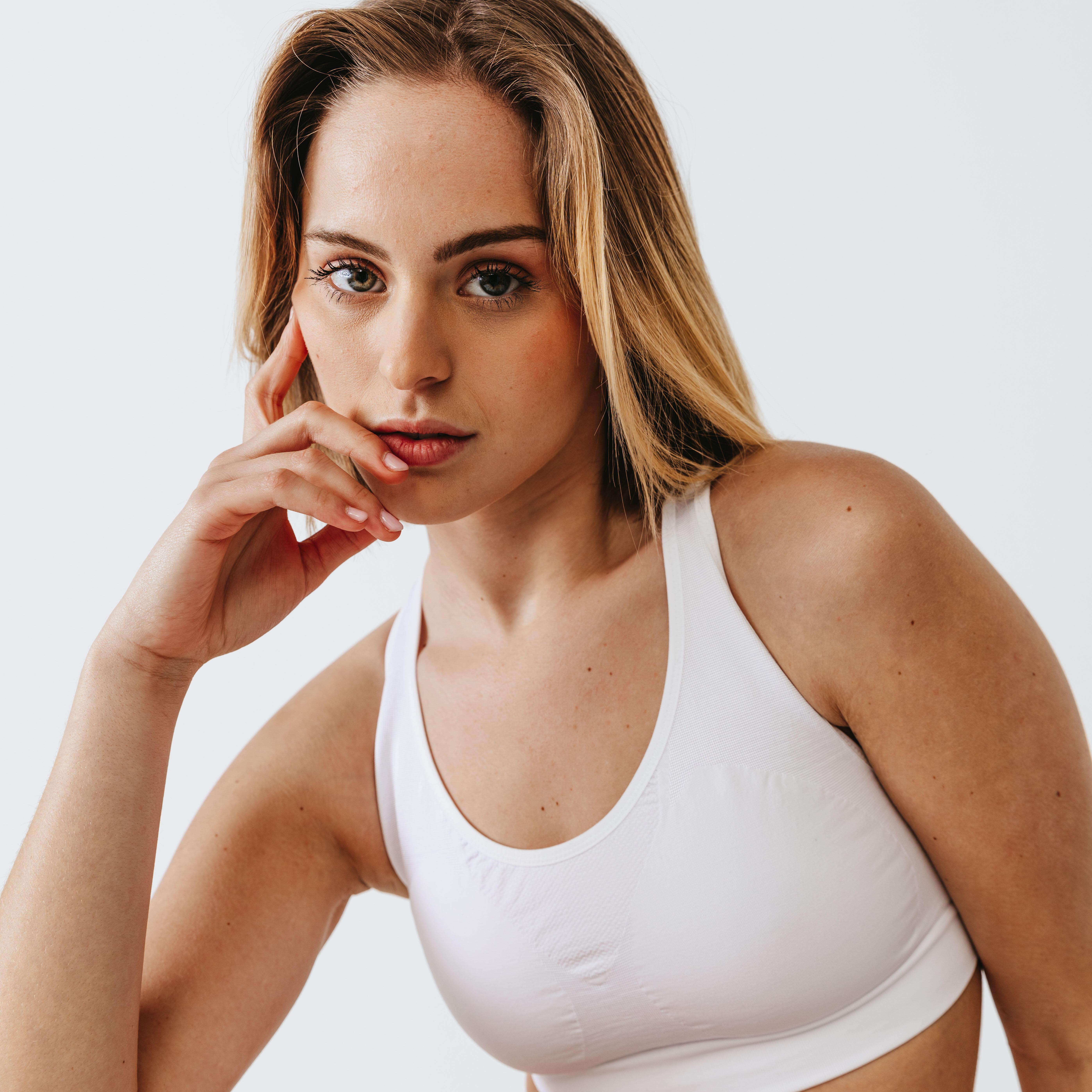 Bustieră Clasică Jogging Alb imagine