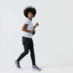 RUN DRY + WOMEN'S RUNNING T-SHIRT - PASTEL LAVENDER BLUE