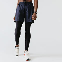 SHORT RUNNING RUN DRY + GRIS ABYSSES HOMME