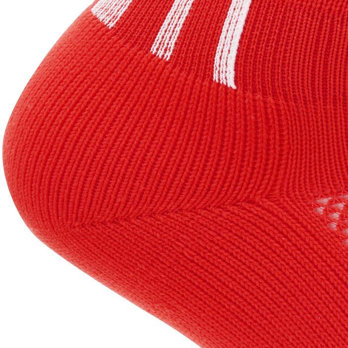 Medias largas de fútbol para adulto F500 rojas