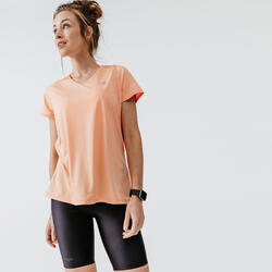 RUN DRY WOMEN'S T-SHIRT - PASTEL ORANGE