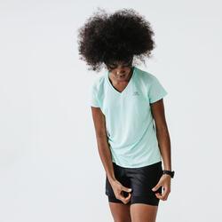 Hardloopshirt voor dames Run Dry pastelgroen