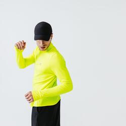 Hardloopshirt met lange mouwen voor heren Run Warm fluogeel