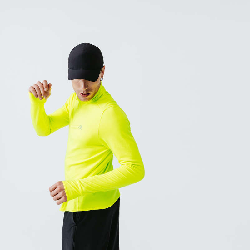 ÎMBRĂCĂMINTE JOGGING PROTECȚIE FRIG BĂRBAȚI Produse Eco barbati - Bluză Jogging Run Warm Bărbați KALENJI - BARBATI