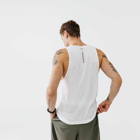 KALENJI DRY MEN'S RUNNING BREATHABLE TANK TOP - WHITE