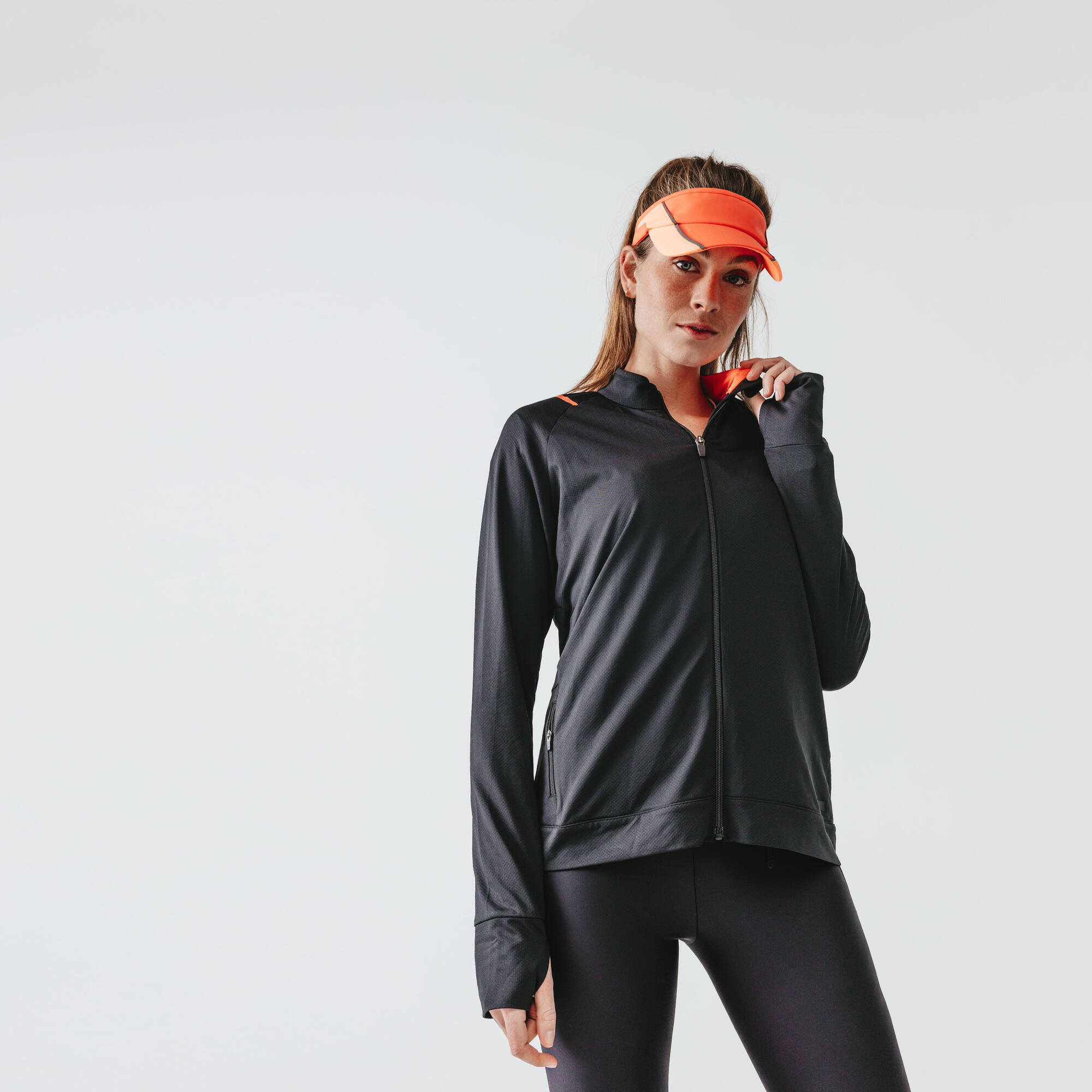 Laufjacke Run Dry Damen schwarz