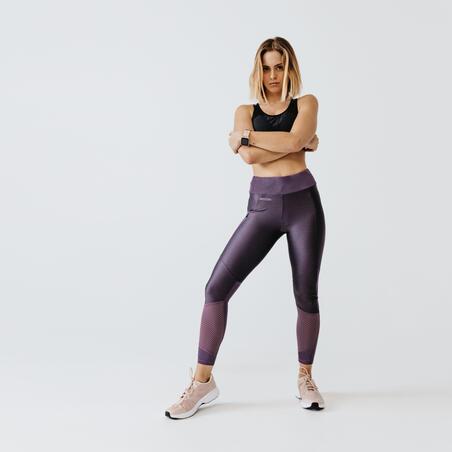 RUN DRY+ FEEL WOMEN'S LEGGINGS - PURPLY GREY