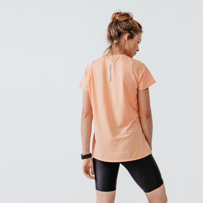 RUN DRY WOMEN'S T-SHIRT - PASTEL ORANGE