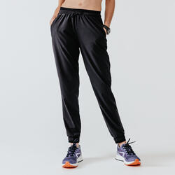 RUN DRY WOMEN'S RUNNING TROUSERS - BLACK