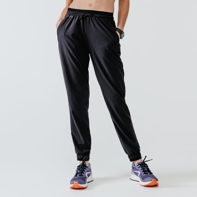 Kadın Siyah Eşofman Altı / Koşu - RUN DRY