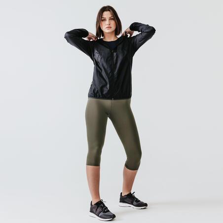 Women Jogging/ Running Windproof Jacket Black - Kalenji