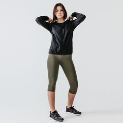 Dames windjack voor jogging Run Wind zwart