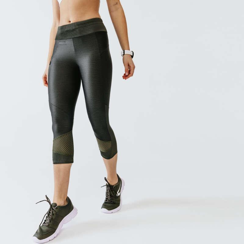 KADIN DÜZENLİ KOŞU SICAK HAVA GİYİM Koşu - TAYT RUN DRY + FEEL 3/4 KALENJI - Kadın Koşu Kıyafetleri