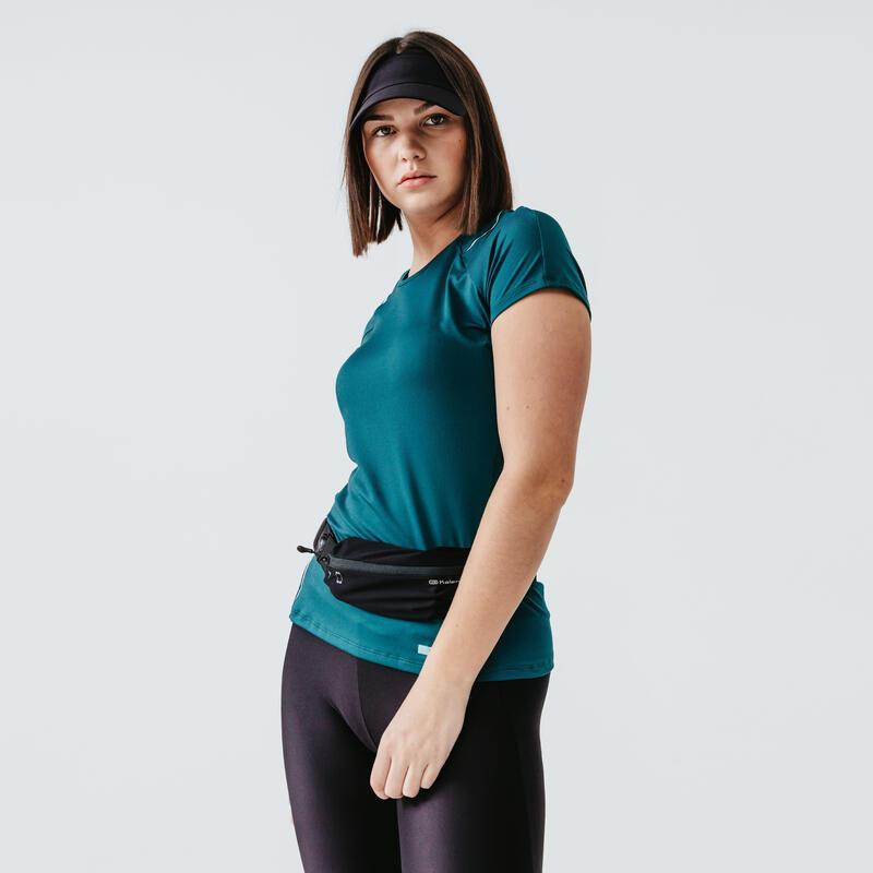 Hardloop T-shirt voor dames Run Dry+ diepturquoise