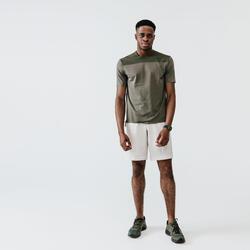 Men's Running Breathable T-Shirt Kalenji Dry+ Breath - khaki ash