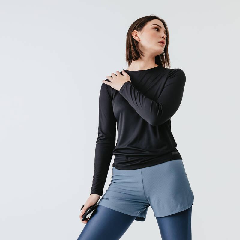DÁMSKÉ OBLEČENÍ NA JOG - TEPLÉ POČASÍ, PŘÍLEŽITOSTNÉ POUŽITÍ Běh - BĚŽECKÉ TRIČKO SUN PROTECT  KALENJI - Běžecké oblečení