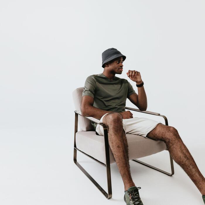 男款透氣跑步T恤Dry+ Breath - 卡其色灰色
