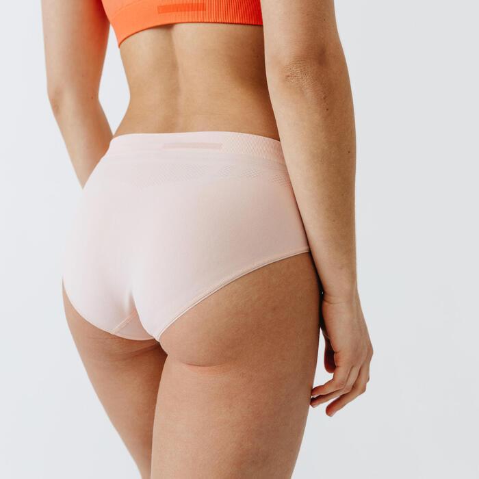透氣 跑步內褲 - 淡粉色
