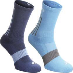 Mid 500 Adult Team Sports Socks - White Pack of 2
