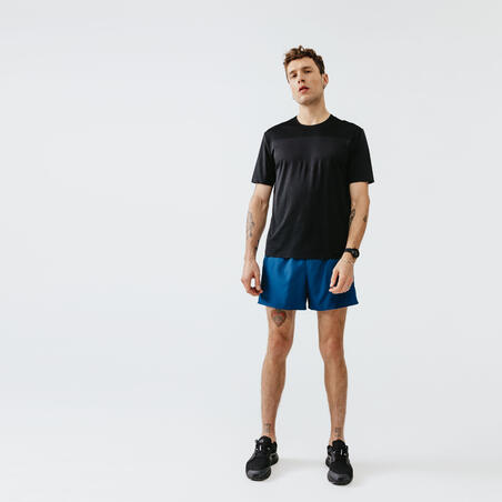 KALENJI DRY MEN'S BREATHABLE RUNNING SHORTS - PRUSSIAN BLUE