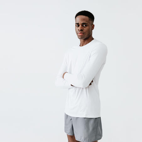 SUN PROTECT MEN'S RUNNING T-SHIRT - WHITE