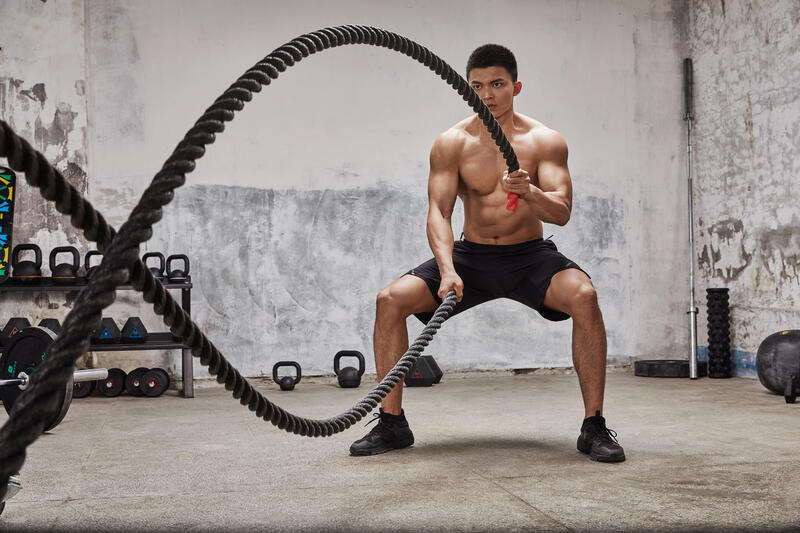 Cross Training Battle Rope - Black with Red accent