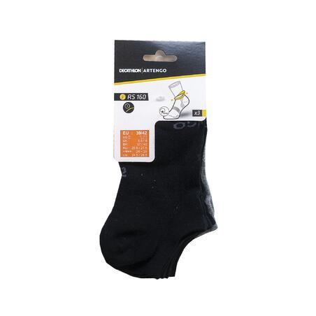 RS 160 Low Sports Socks 3-Pack - Black/Grey