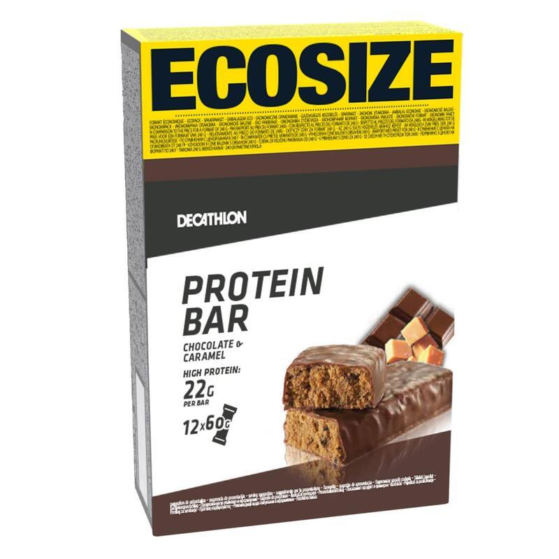 BARRE DE PROTEINE CHOCOLAT CARAMEL ECOSIZE X12