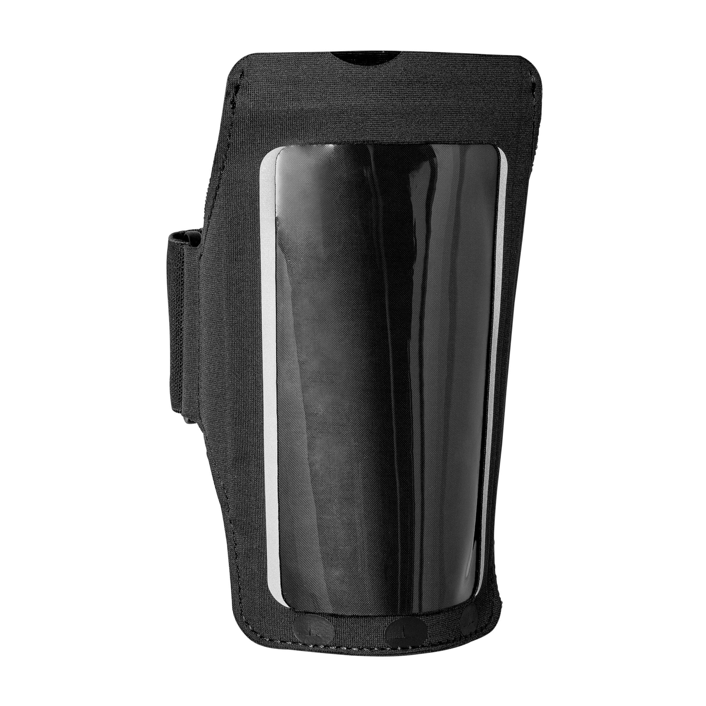 Hardloop armband voor grote smartphone zwart