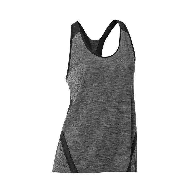 Women's Running Tank Top Run Light - charcoal grey