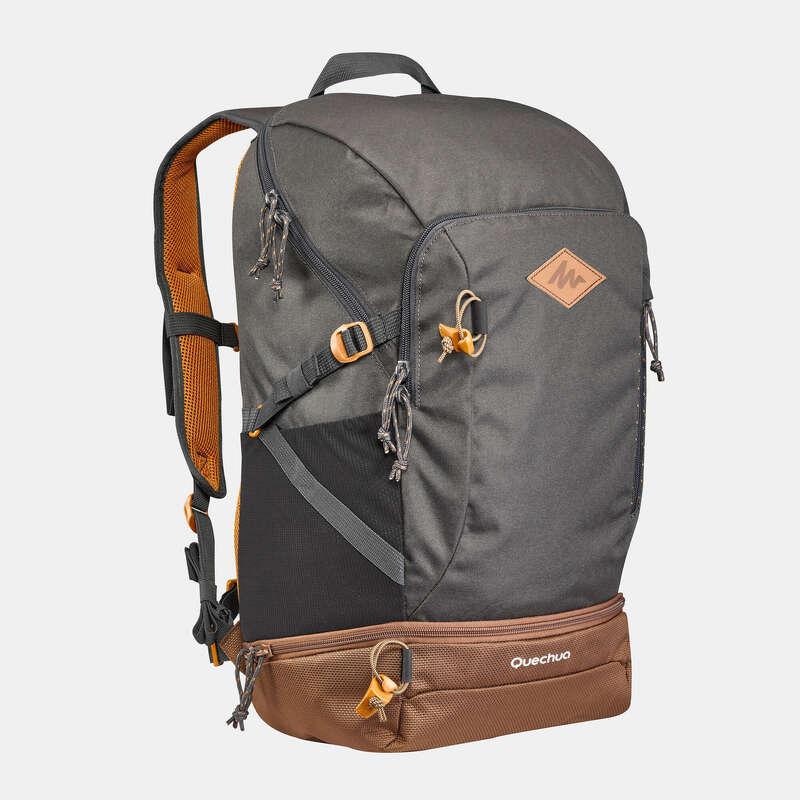 РЮКЗАКИ ДЛЯ ПРОГУЛОК 10-30 Л Рюкзаки и сумки - Рюкзак 30 л темно-серый NH500 QUECHUA - Рюкзаки